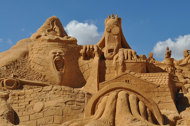 Algarve sand sculpture